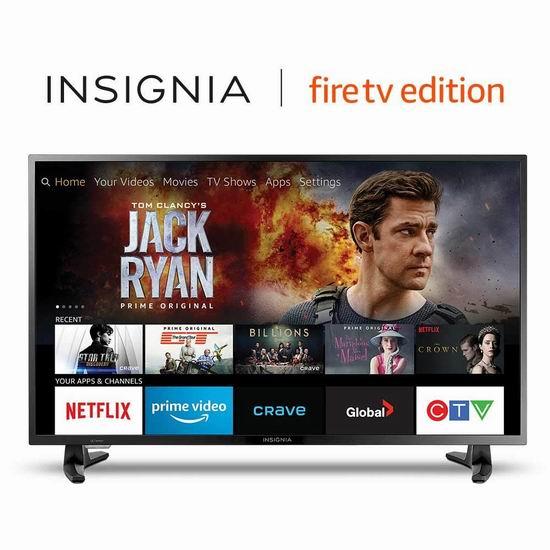历史最低价!Insignia 39英寸 1080P全高清 Fire TV版智能电视 249.99加元包邮!