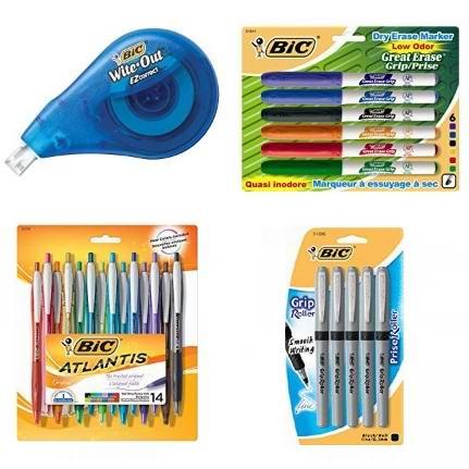 金盒头条:精选 BIC 马克笔、签字笔、原子笔、干擦笔、修正带等4.7折起!低至1.93加元!