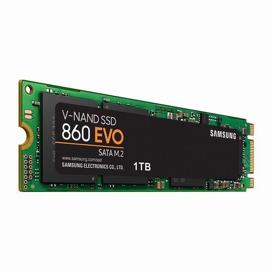 历史最低价!Samsung 三星 860 EVO M.2 1TB 固态硬盘 199.99加元包邮!