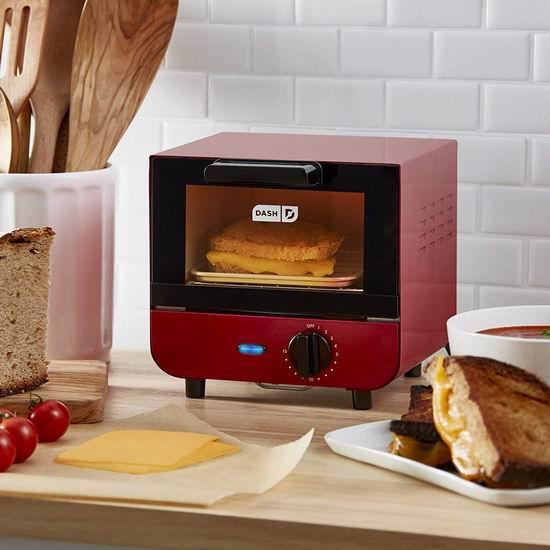 DASH DMTO100GBRD04 高颜值迷你烤箱 50.47-61.12加元包邮!3色可选!