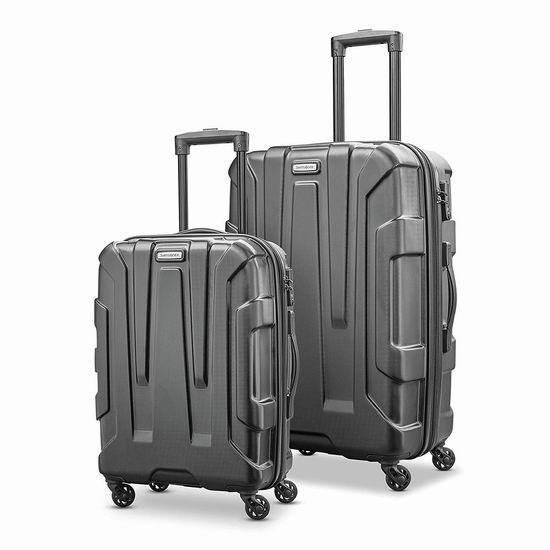 折扣升级!历史新低!新款 Samsonite 新秀丽 Centric HS 全PC 20+24寸 黑色时尚硬壳拉杆行李箱2件套2.4折 134.98加元包邮!
