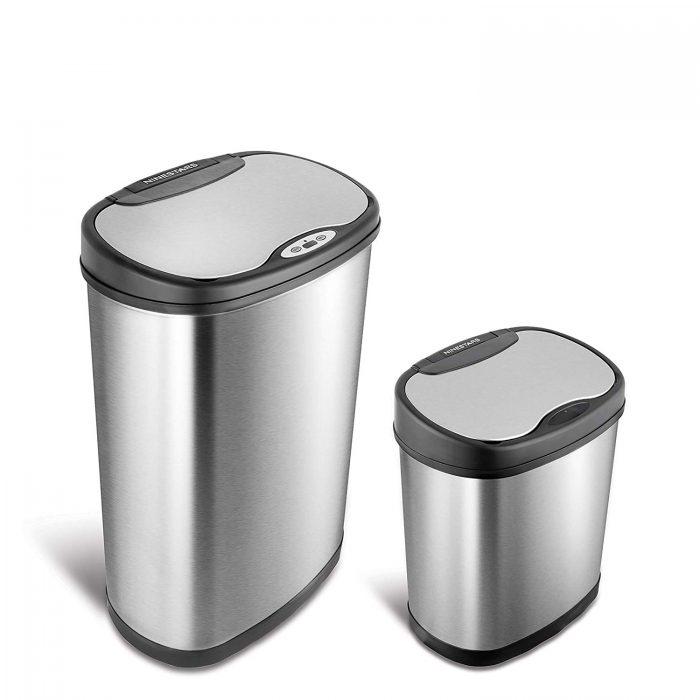 历史新低!NINESTARS CB-DZT-50-13/12-13 12+50升 红外感应式不锈钢垃圾桶5折 99.99加元包邮!