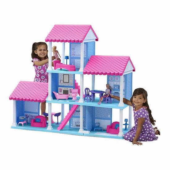 历史新低!American Plastic Toys 大型玩具娃娃屋5.5折 89.97加元包邮!