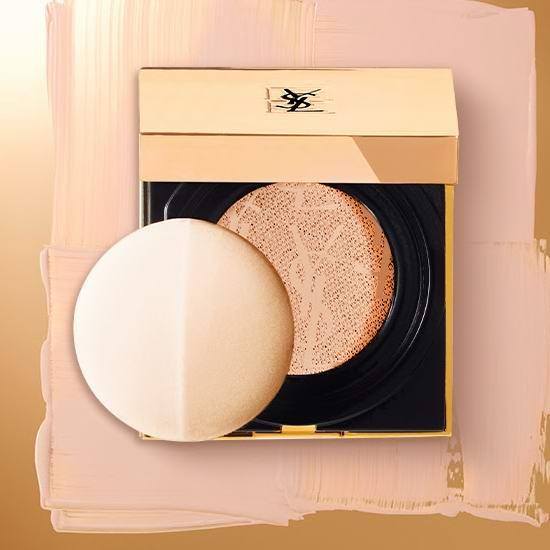 最后一天!颜值逆天!YSL 圣罗兰 蕾丝气垫粉饼及补充装全部6折清仓!