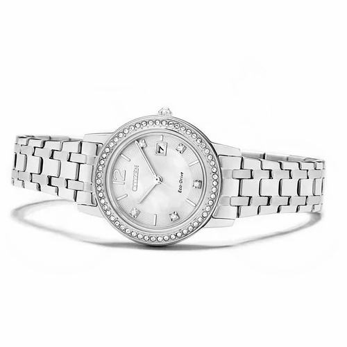 Citizen 西铁城 FE1180-57D 施华洛世奇水晶 太阳能 女式腕表/手表3.3折 133加元包邮!仅限今日!