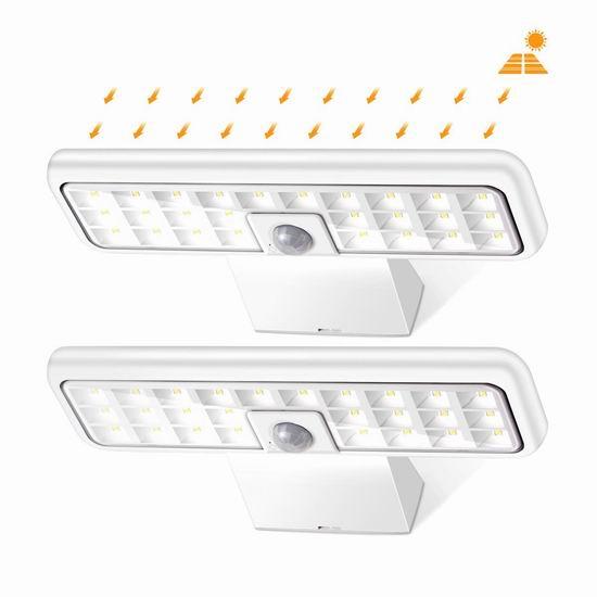 历史新低!Sunix 28 LED 超亮太阳能防水运动感应灯2件套4折 19.99加元!