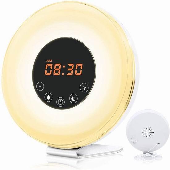 GRDE 多功能自然唤醒灯 24.29加元限量特卖并包邮!