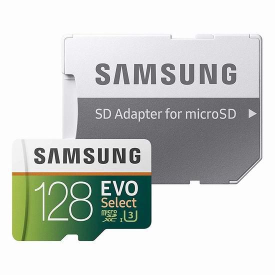 历史最低价!Samsung 三星 EVO Select 128GB microSDXC 闪存卡 26.99加元!