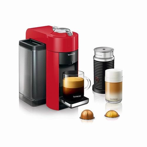 历史最低价!Nespresso Vertuo胶囊咖啡机+奶泡机 199.99加元(3色可选),原价 319.99加元,包邮