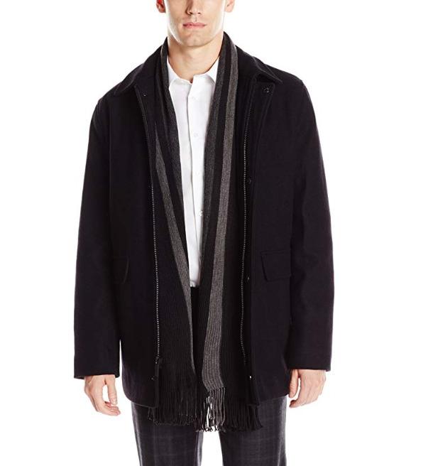 Calvin Klein 男士羊毛大衣 48.3加元(xl),原价 150.3加元,包邮