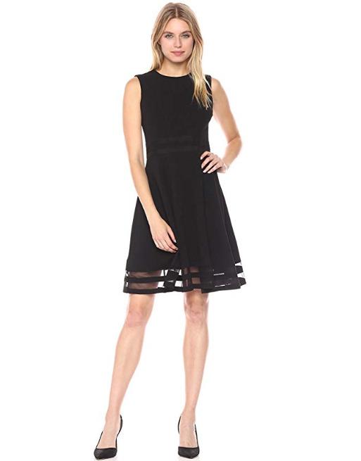 Calvin Klein 无袖连衣裙 52.27加元(4码),原价 106.25加元,包邮