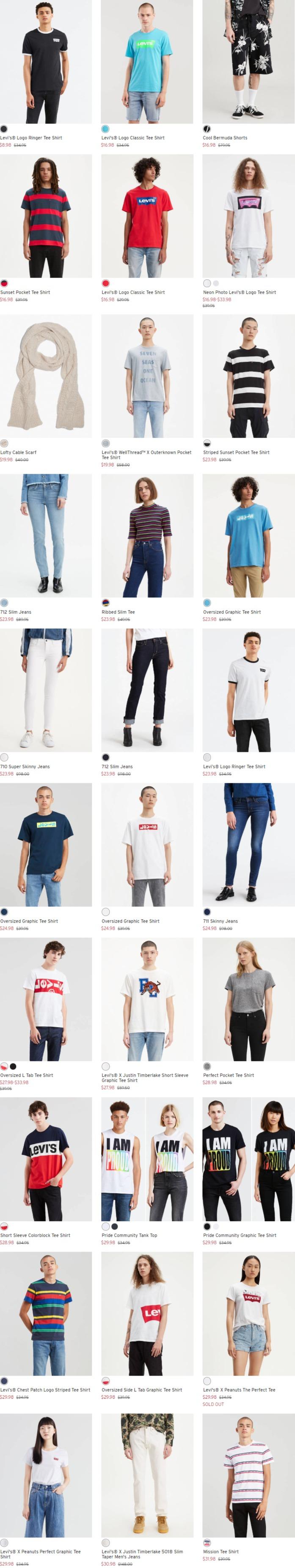 Levi's 李维斯官网清仓!精选牛仔裤、牛仔服、T恤、卫衣等2.1折起!