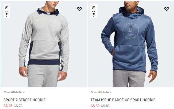 adidas本周特惠:精选运动服 2.6折 10加元起+包邮!