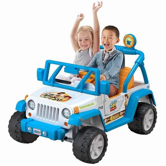 Fisher-Price 费雪 Power Wheels 儿童双人座 迪士尼玩具总动员 吉普电动车 299.98加元包邮!
