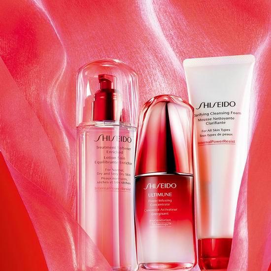 Shiseido 资生堂官网满送价值46加元3件套大礼包!收红妍肌活5周年限量版超值装!