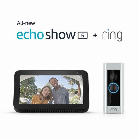 历史新低!Ring Pro 第二代可视智能门铃 + Echo Spot 智能音箱超值装6折 239加元包邮!