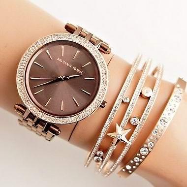 历史新低!Michael Kors MK3416  Darci 女士水晶腕表/手表 158.54加元包邮!