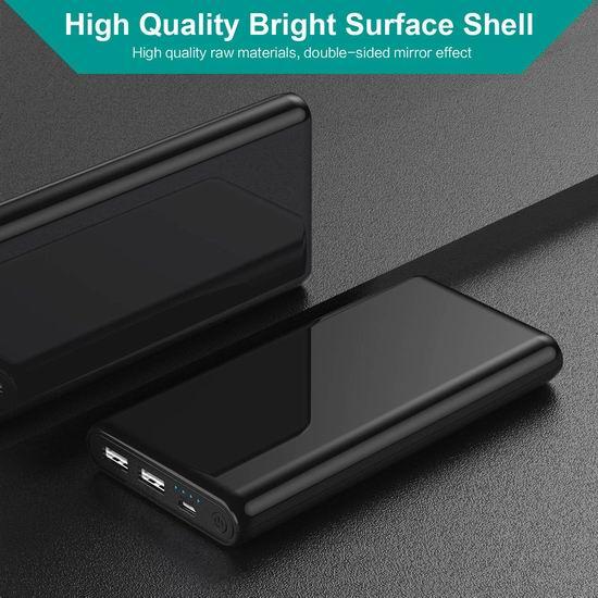 QTshine 25800mAh 双口便携式快速充电移动电源/充电宝 23.49加元限量特卖并包邮!