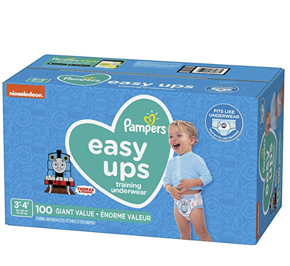 Pampers Easy Ups男宝宝如厕训练裤 100装 26.37加元,原价 34.56加元