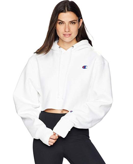 Champion Reverse Weave Cropped女士高腰卫衣 76.16加元,原价 114.14加元,包邮