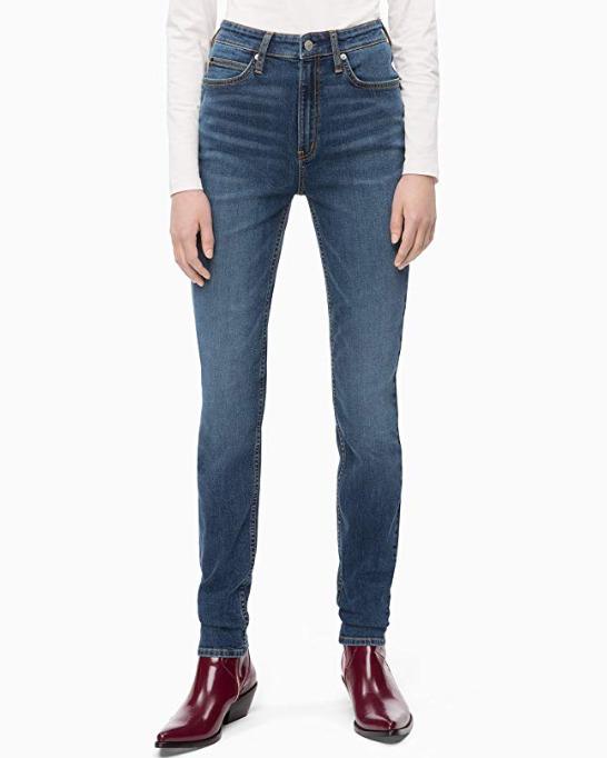 Calvin Klein女士高腰紧身牛仔裤 19.86加元起!