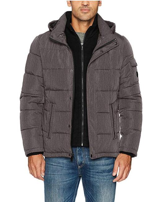 Calvin Klein 男士防寒服 71.92加元(S码),原价 112.49加元,包邮