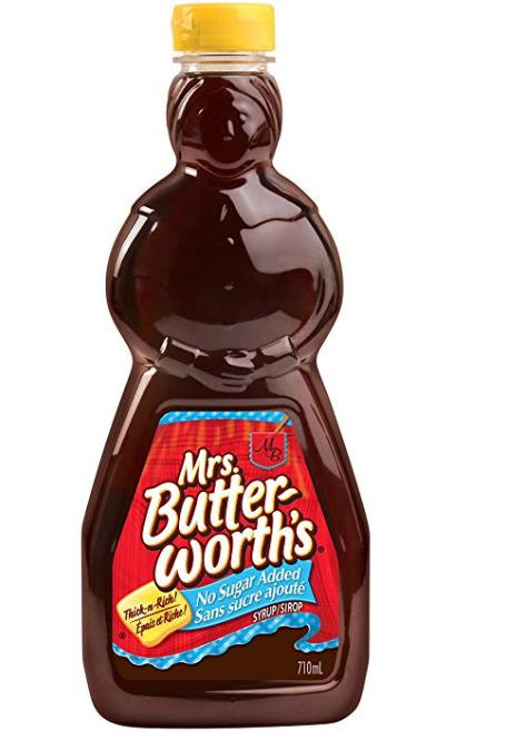 Mrs. Butterworth's 无糖糖浆 2.99加元,原价 5.06加元