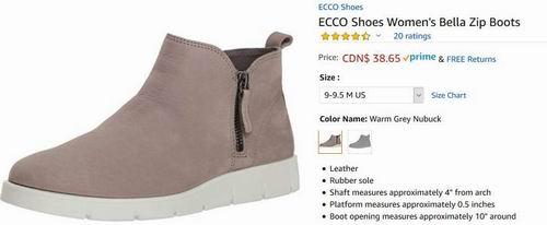 白菜价!ECCO 爱步 Bella 女士休闲鞋 38.65加元(9-9.5码),原价 161.99加元,包邮
