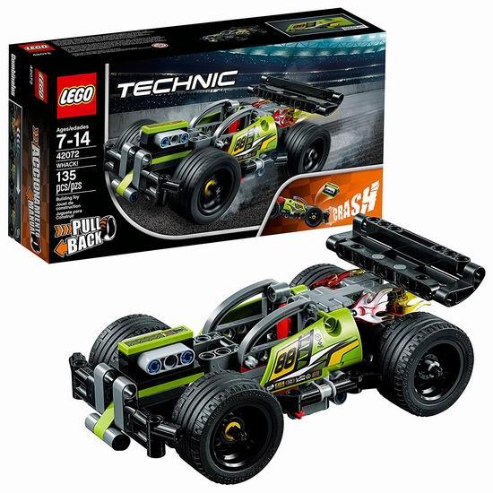 历史新低!LEGO 乐高 42072 机械组 高速赛车旋风冲击(135pcs)7折 17.38加元!