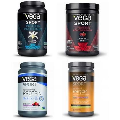 金盒头条:精选多款 Vega Sport 植物蛋白粉、运动能量补充剂、电解质等全部8折!