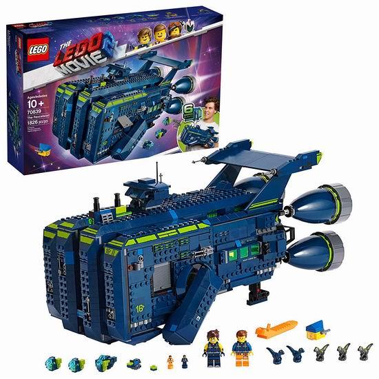 拼手速!历史新低!新品 LEGO 乐高 70839 乐高大电影2 雷克斯棒呆号宇宙飞船(1820pcs)4.9折 97.99加元包邮!