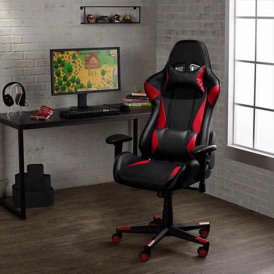 AmazonBasics 人体工学 高靠背赛车办公椅/游戏椅 7折 146.77加元包邮!