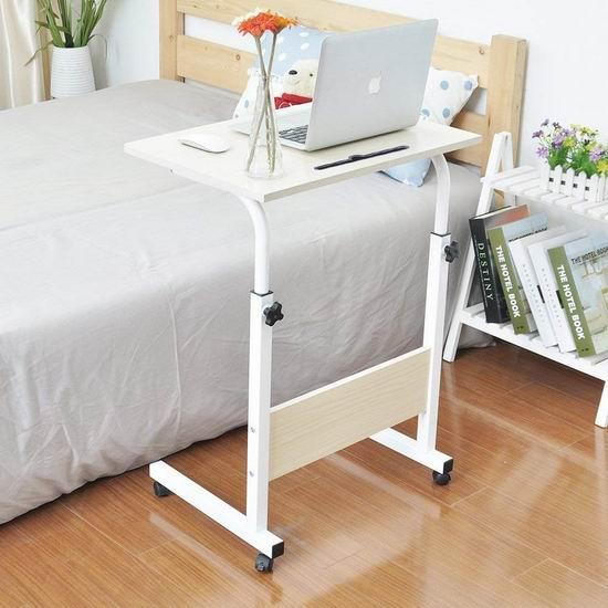 金盒头条:历史最低价!Soges 23.6/31.4英寸 便携式可调高 床边/沙发电脑桌 39-49加元包邮!3色可选!