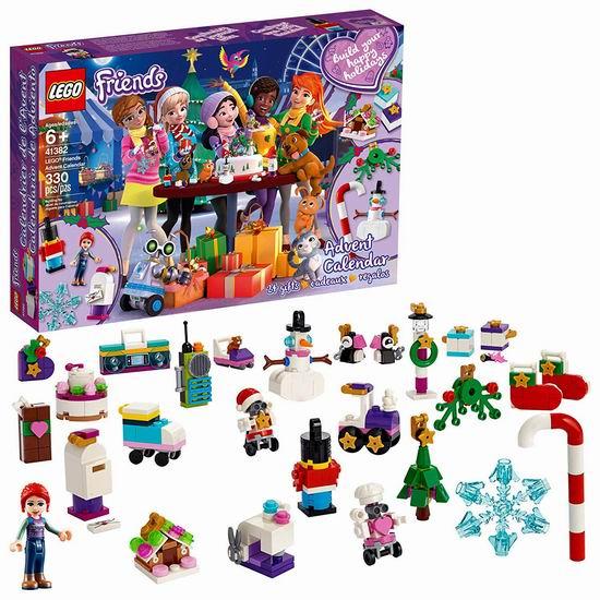 历史新低!新品 LEGO 乐高 41382 好朋友系列 圣诞倒数日历(330pcs)7.5折 29.86加元!