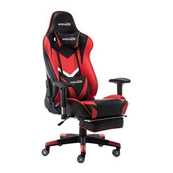 历史新低!WENSIX 人体工学 高靠背赛车办公椅/游戏椅 169.99加元包邮!5色可选!
