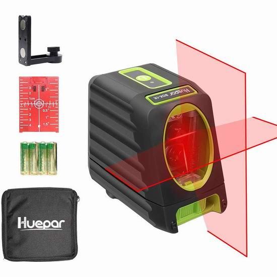 金盒头条:历史新低!Huepar 150英尺 自动调平 360度交叉线 激光水平仪4.3折 47加元包邮!