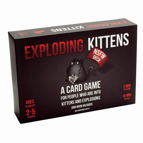 历史最低价!Exploding Kittens 爆炸猫 NSFW 黑盒版桌游 16.99加元!