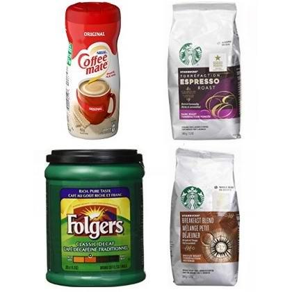 金盒头条:精选 Starbucks、Folgers、COFFEE-MATE 等品牌咖啡豆、咖啡粉6.1折起!