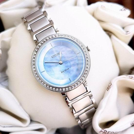 历史新低!Citizen 西铁城 EM0480-52N 光动能 女式腕表/手表4折 140.57加元包邮!