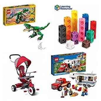 金盒头条:精选上百款 LEGO乐高、Fisher-Price费雪、Hasbro孩之宝 等儿童积木、益智玩具、推车等4折起!