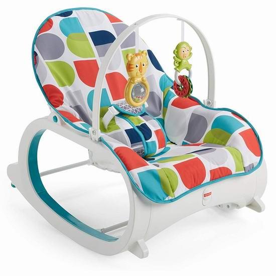 历史最低价!Fisher-Price 费雪 Infant-to-Toddler 婴幼儿震动安抚摇椅 44.88加元包邮!2色可选!