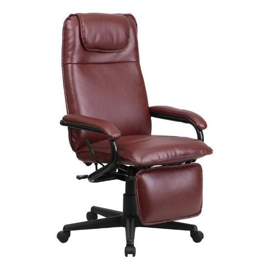 白菜价!历史新低!Flash Furniture 高靠背真皮带腿部支撑旋转办公椅3.4折 109.63加元包邮!