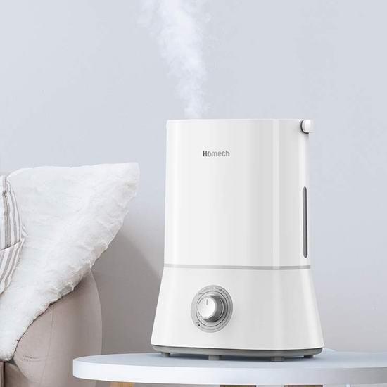 独家:历史新低!新品 Homech 4升大容量 零噪音超声波加湿器 48.99加元包邮!
