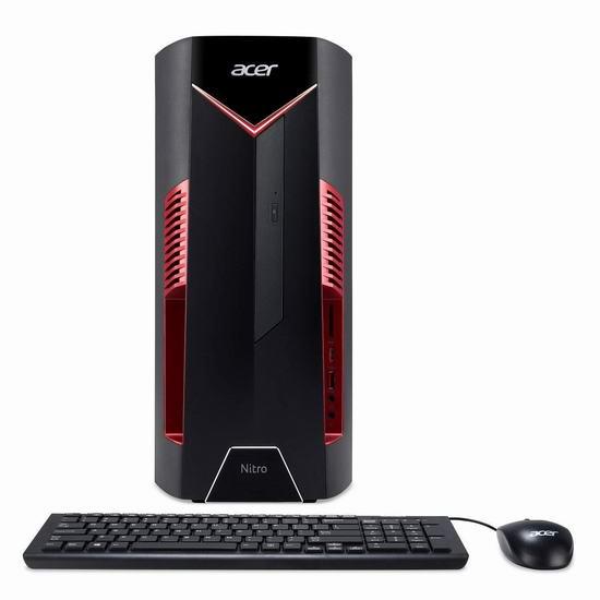 历史新低!Acer 宏碁 NITRO 50 DG.E0HAA.014 台式机(i7-8700, 8GB , 1TB + 16GB, RX580 4G)5折 646.81加元包邮!比Walmart清仓还便宜353.18加元!