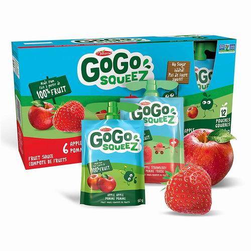 Go Go Squeez 梦果100%纯鲜果泥 苹果草莓味 5.97加元,原价 7.97加元
