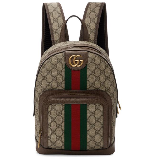 Gucci Beige 小号双G Ophidia双肩包 1710加元,官网价 1880加元,包邮