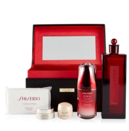 Shiseido 资生堂限量版 红腰子+红色蜜露精华化妆水+百优面霜 6件套 182.7加元(价值 280加元) 包邮!