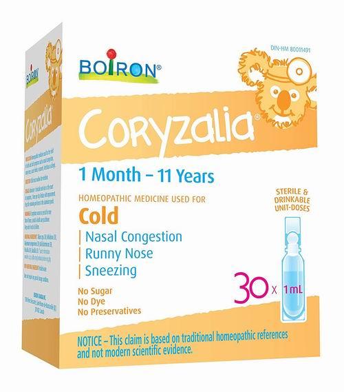 精选4款 Boiron 婴幼儿感冒口服滴剂 30瓶装 8折 11.97加元(14.99加元),顺势疗法天然无副作用