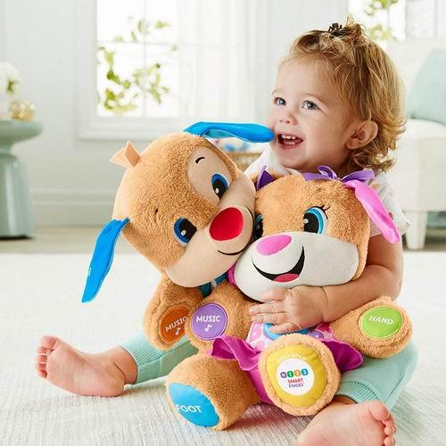史低价!Fisher-Price Laugh & Learn智能学习音乐毛绒玩具 5.4折 13.37加元(英文版及法语版),原价 24.88加元