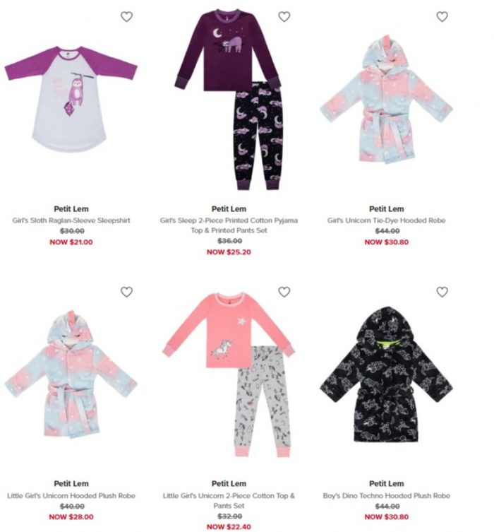 加拿大品牌!Petit Lem清新可爱儿童服饰、连体服、睡衣 6折 6加元起+满省10加元+全场包邮!仅限今日!